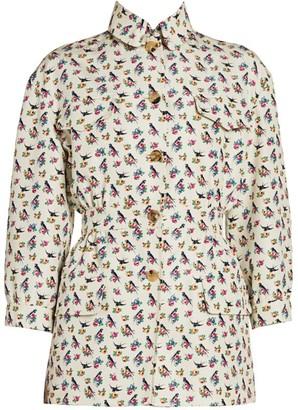 Prada Floral Silk Cargo Jacket