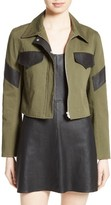 Veda Women's Linder Leather Trim Military Jacket