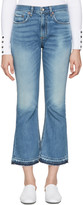 Rag & Bone Blue Crop Flare Jeans