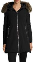 Moncler Dimitra Fur Trim Hood Down Coat