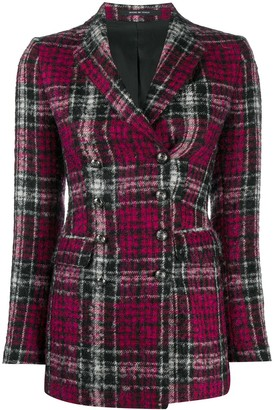 Tagliatore Tartan Double-Breasted Blazer