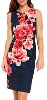 Wallis Women's Sahara Floral Scuba Sheath Dress