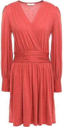 Joie Corelle Wrap-effect Cotton And Modal-blend Mini Dress