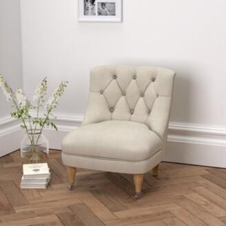 The White Company Richmond Linen Union Tub Chair , Natural Linen Union, One Size
