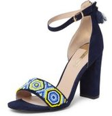 Dorothy Perkins Womens Navy 'Sizzle' Beaded Sandals- Blue