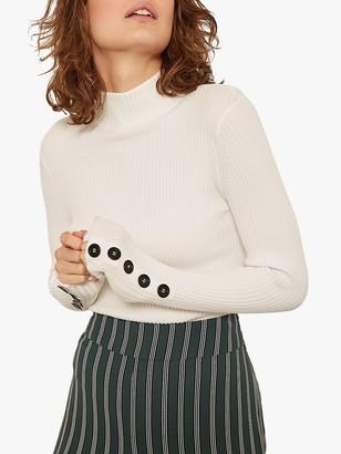 Mint Velvet Fine Ribbed Buttoned Sleeve Knit