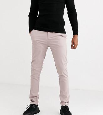 ASOS DESIGN Tall skinny chinos in warm pink