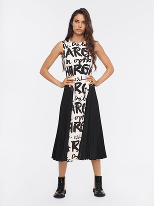 Diane von Furstenberg Astella Pleated Silk Crepe de Chine Midi Dress
