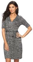 Apt. 9 Women's Marled Faux-Wrap Dress