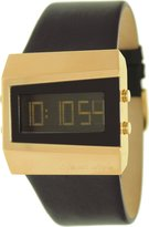 Black Dice Dice Men's Chill BD-057-05 Leather Quartz Watch with Digital Dial