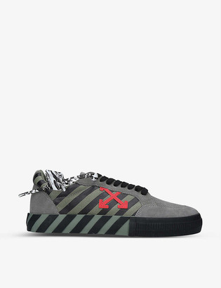 Off-White Vulcanized suede and canvas trainers