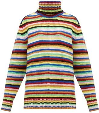 JoosTricot Striped Roll-neck Wool-blend Sweater - Womens - Multi