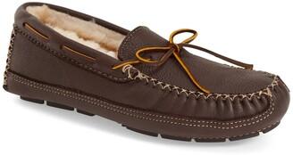 Minnetonka Genuine Shearling Leather Slipper
