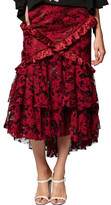 Romance Was Born Crimson Magnolia Skirt