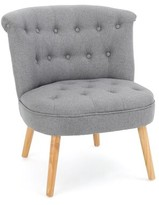 """Bungalow Rose Leudelange 25"""" Slipper Chair Fabric: Polyester Gray"""