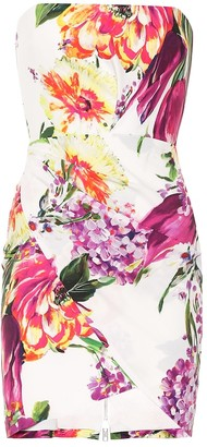 Alex Perry Caine floral crepe minidress