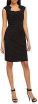 Calvin Klein Petite Horseshoe-Neck Sheath Dress