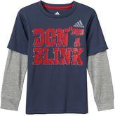 "adidas Boys 4-7x climalite ""Don't Blink"" Tee"