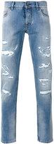 Dolce & Gabbana ripped detail jeans - men - Cotton - 50