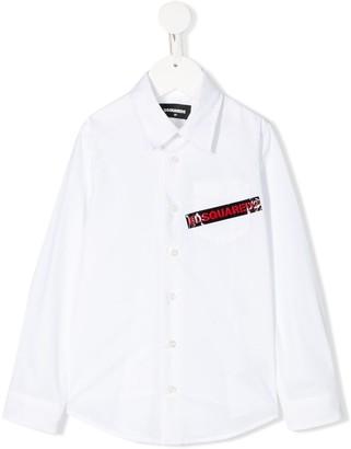 DSQUARED2 logo tape shirt
