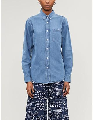 Obey Keble organic denim shirt