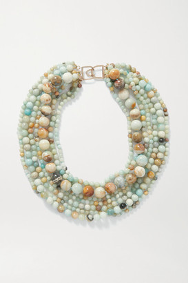 Kenneth Jay Lane Gold-tone And Bead Necklace - one size