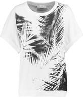 adidas by Stella McCartney Palm mesh-paneled printed cotton T-shirt
