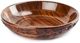 Rusticity Wood Serving Bowl - Medium carved | Handmade | (8 inch)