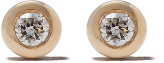 Astley Clarke 14kt gold diamond mini Icon Nova stud earrings
