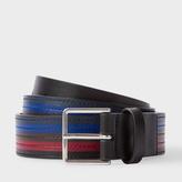 Paul Smith Men's Black Colour Band Leather Belt