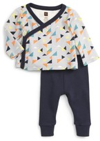 Tea Collection Infant Boy's Archer Wrap Top & Sweatpants Set