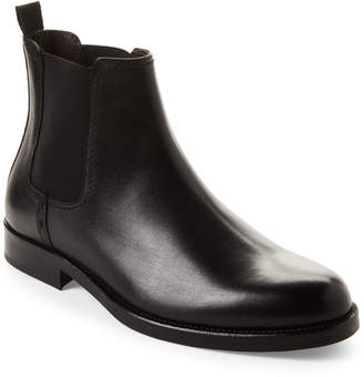 Bruno Magli Black Fonzie Leather Chelsea Boots