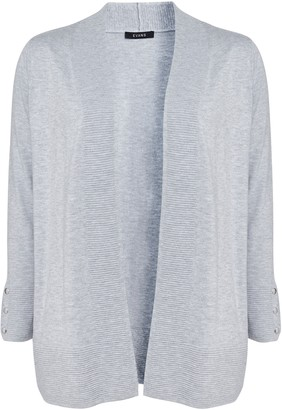 Evans Grey Popper Cuff Cardigan