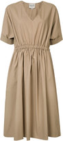 Sea elasticated waistband V-neck dress