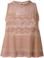 M Missoni knitted tank top - women - Cotton/Polyamide/Viscose/Polyester - 40