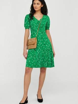 Monsoon Desree Ditsy Print Jersey Dress - Green