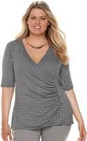 Dana Buchman Plus Size Wrap Top