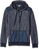 Calvin Klein Jeans Men's Cross Dye French Terry Full Zip Hoodie Sweatshirt