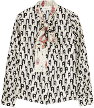 La Prestic Ouiston Cipriana Printed Silk Blouse