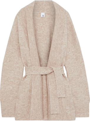 Iris & Ink Katla Belted Brushed Knitted Cardigan