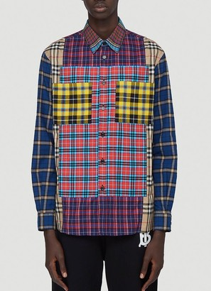 Burberry Patchwork Check Oversized Shirt