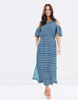 Jag Cut-Out Shoulder Dress
