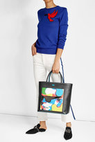 Karl Lagerfeld X Steven Wilson Printed Tote with Leather