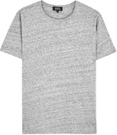 A.p.c. Paul Grey Mélange Cotton T-shirt