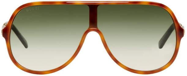 Gucci Tortoiseshell Sensual Romanticism Aviator Sunglasses