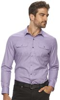 Marc Anthony Men's Slim-Fit Stretch Two-Pocket Button-Down Shirt