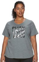 Tek Gear Plus Size Easy Graphic V-Neck Workout Tee