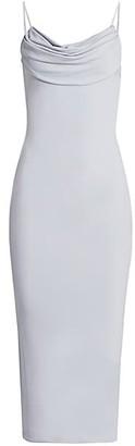 Cushnie Sleeveless Cowlneck Pencil Dress
