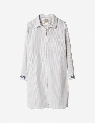 Zadig & Voltaire Raye striped cotton-blend shirt dress