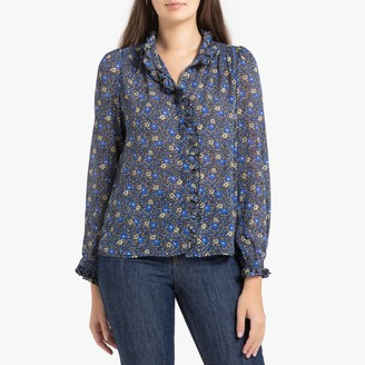 FRNCH Chan Printed Shirt with Long Sleeves